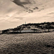 The Beach In Sepia Poster