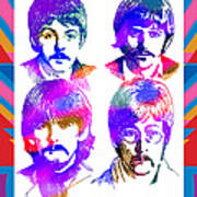 The Beatles Art Poster