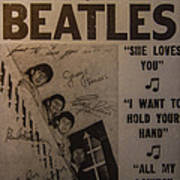The Beatles Ed Sullivan Show Poster Poster