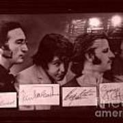 The Beatles In Old Photo Process At Fudruckers Poster