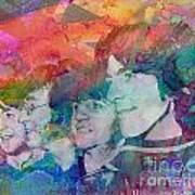 The Beatles Original Painting Print Poster