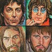 The Beatles Quad Poster