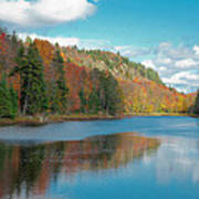 The Beautiful Bald Mountain Pond Poster