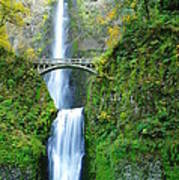 The Beauty Of Multnomah Falls Poster