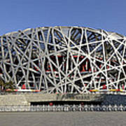 The Beijing National Stadium - Site Of 2008 Olympic Games Poster by Brendan Reals