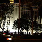 The Bellagio At Night Poster