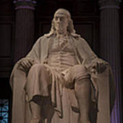 The Benjamin Franklin Statue Poster