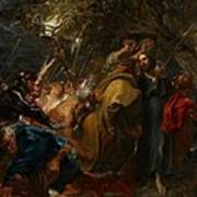 The Betrayal Of Christ Poster by Anthony Van Dyck
