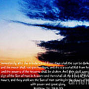 The Bible Matthew 24 Poster