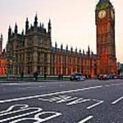 The Big Ben Bus Lane - London Poster