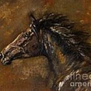 The Black Horse Oil Painting Poster