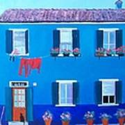 The Blue House Burano Poster