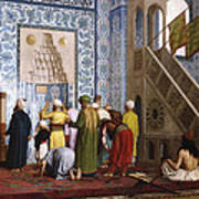 The Blue Mosque Poster by Jean Leon Gerome