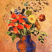 The Blue Vase Poster by Odilon Redon