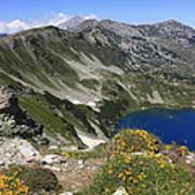 The Blue Vasilashko Lake Pirin National Park Bulgaria  Poster