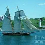 American Tall Ship Sails Past Mcnabs Island Poster