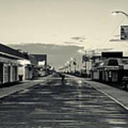 The Boardwalk Before Sunrise In Sepia Poster
