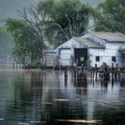 The Boathouse Poster by Bill Wakeley