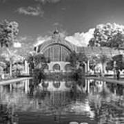 The Botanical Building In Black And White Poster