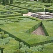 The Boxwood Garden At Chateau Villandry Poster