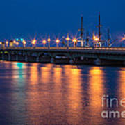 The Bridge Of Lions St. Augustine Florida Poster
