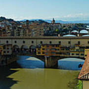 The Bridges Of Florence Italy Poster