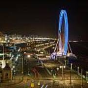 The Brighton Wheel At Night Poster