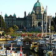 The British Columbia Capitol And Marina Poster