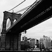 The Brooklyn Bridge New York City East River Poster