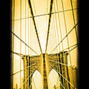 The Brooklyn Bridge New York Poster