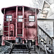 The Caboose Poster by Bill Cannon