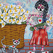The Calla Lily Flower Vendor Poster