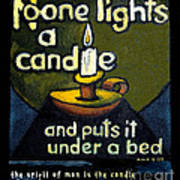 The Candle Poster by Patricia Howitt