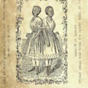 The Carolina Twins, C1869 Poster