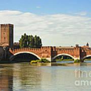 The Castelvecchio Bridge In Verona Poster by Kiril Stanchev