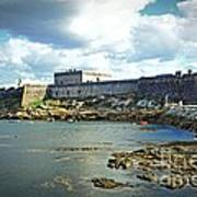 The Castle Fort On The Harbor Poster
