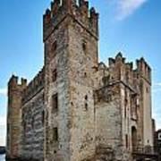The Castle Of Sirmione. Lago Di Garda Poster