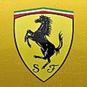 The Cavallino Rampante Symbol Of Ferrari Poster