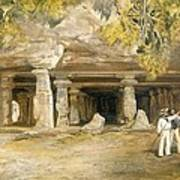 The Cave Of Elephanta, From India Poster