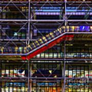 The Centre Pompidou II-paris Poster