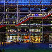The Centre Pompidou-paris Poster