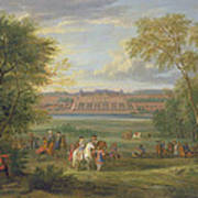 The Chateau Of Saint Germain Oil On Canvas Poster
