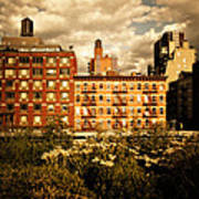The Chelsea Skyline - High Line Park - New York City Poster by Vivienne Gucwa