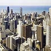 The Chicago Skyline From Sears Tower-001 Poster