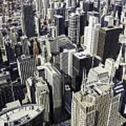 The Chicago Skyline From Sears Tower-004 Poster