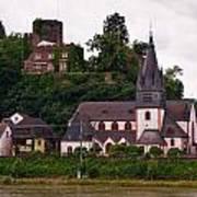 The Church And Heimburg In Niederheimsbach Am Rhein Poster