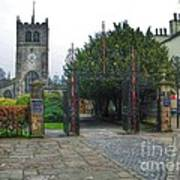 The Church Gate At Kirklands In Kendal Poster