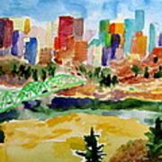 The City Skyline Poster