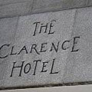 The Clarence Hotel Owned By U2 Poster