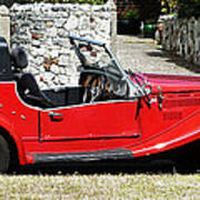 The Classic Red Convertible  Poster